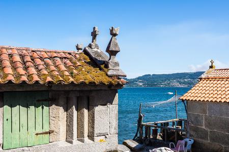 Town of Combarro, Pontevedra in Galicia, Spain Editorial