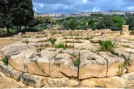 agrigento: The Valley of Temples near Agrigento, Sicily, Italy Stock Photo
