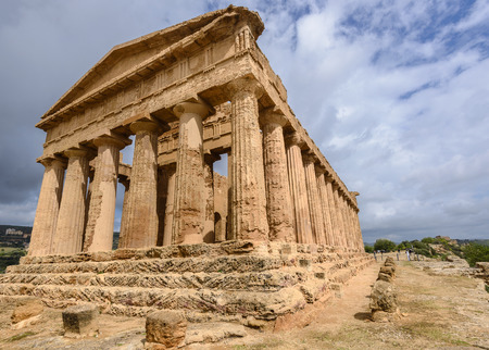 The Temple of Concordia in the Valley of Temples near Agrigento, Sicily, Italy Stock Photo