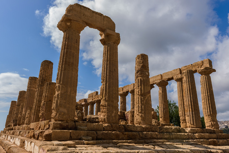 The Temple of Juno in the Valley of Temples near Agrigento, Sicily, Italy Stock Photo