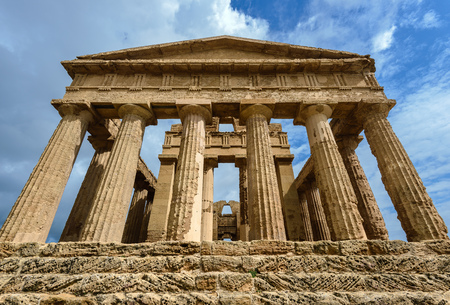 concordia: The Temple of Concordia in the Valley of Temples near Agrigento, Sicily, Italy Stock Photo