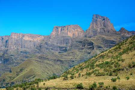 Amphitheater at Royal Natal National Park in the Drakensberg Mountains, South Africa