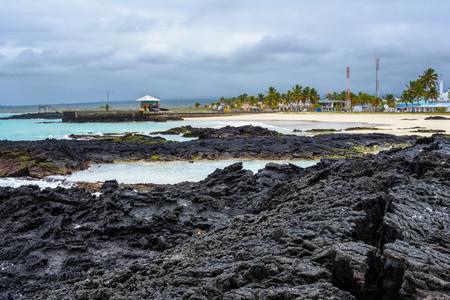 Beach of Puerto Villamil, Isabela Island, Ecuador Stock Photo