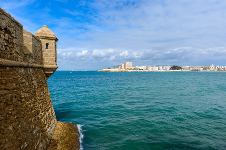 Castle of San Sebastian at Cadiz, Spain Banco de Imagens - 84391063
