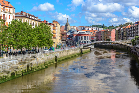 Old town of Bilbao, Basque Country, Spain Banco de Imagens