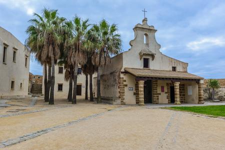 katherine: Courtyard of Santa Catalina Castle, Cadiz, Spain