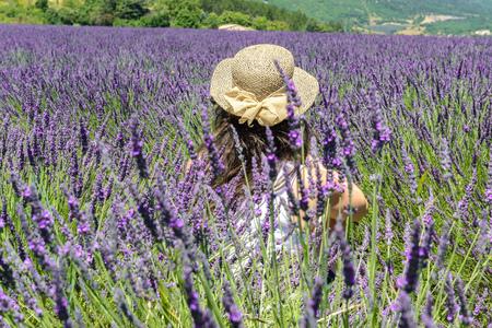 Woman in a lavender field.