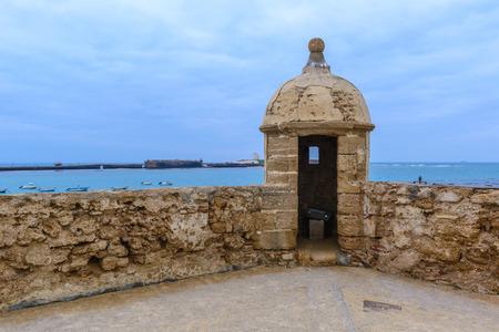 katherine: Castle of Santa Catalina at Cadiz, Spain Editorial