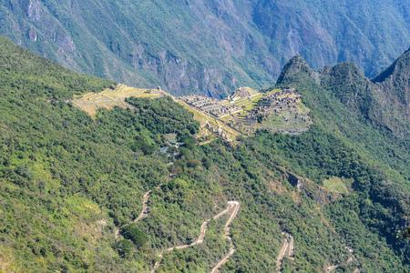 Machu Picchu seen from Sun Gate, Peru Stock Photo