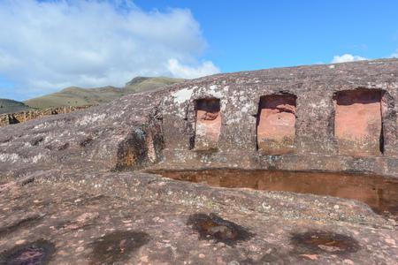 Archaeological site of El Fuerte de Samaipata, Bolivia Stock Photo