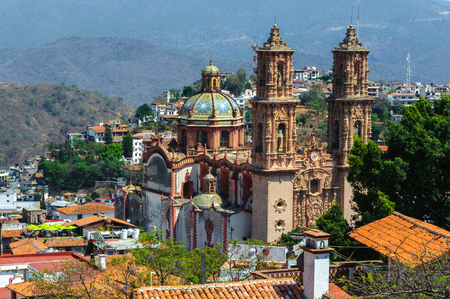 Santa Prisca parish in Taxco of Alarcon, Guerrero, Mexico