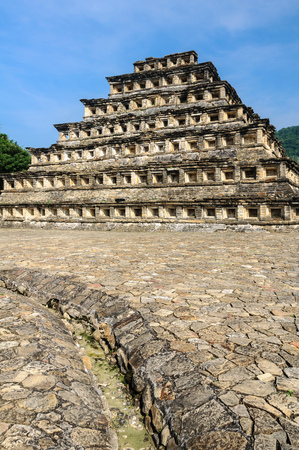 Pyramid of the Niches in El Tajinarchaeological site, Veracruz, Mexico