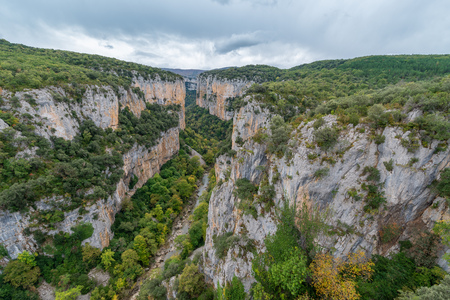 Foz of Arbayun, natural reserve in Navarre, Spain