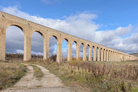Noain aqueduct, next to Pamplona, Navarre in Spain
