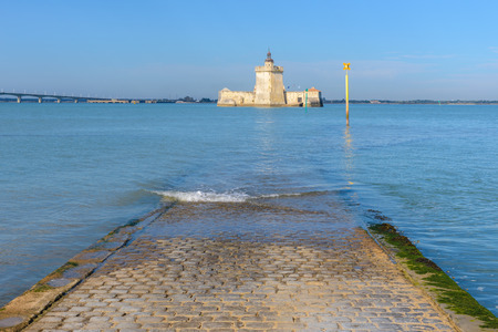 Fort Louvois at high tide, Charente-Maritime, France