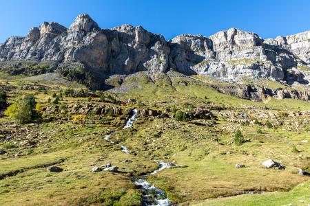 Circus of Soaso, Ordesa and Monte Perdido National Park, Huesca, Spain 스톡 콘텐츠