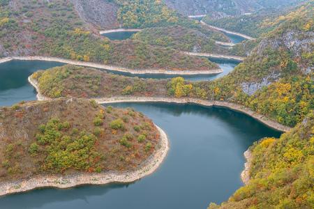 Meanders of Uvac river, Serbia