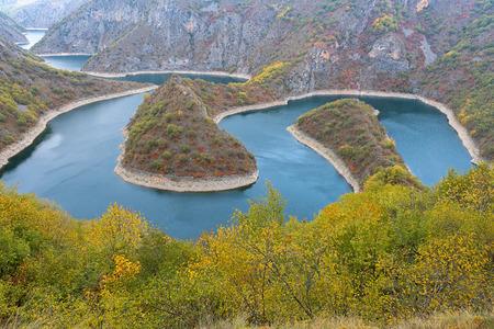 Meanders of Uvac river, Serbia Фото со стока