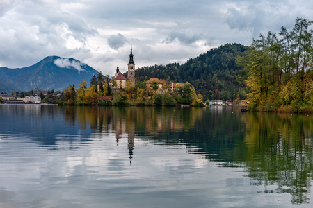 Church of the Assumption of Mary in Lake Bled, Slovenia