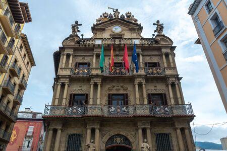 Town hall of Pamplona, Navarre, Spain Stock Photo