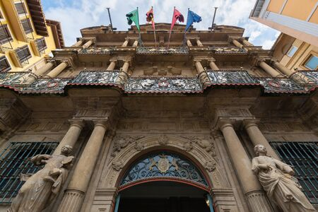 Rathaus von Pamplona, Navarra, Spanien Standard-Bild