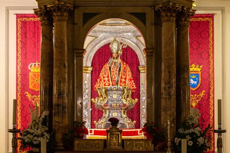 Chapel of San Fermin in San Lorenzo church, Pamplona, Spain 写真素材