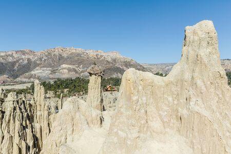 Sandstone Formations in Valle de la Luna - Moon Valley near La Paz, Bolivia