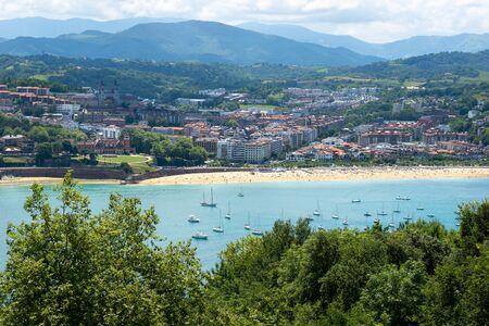 San Sebastian Bay of Donostia from Urgull Mountain, Basque Country, Spain