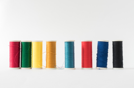 Sewing threads of many colors