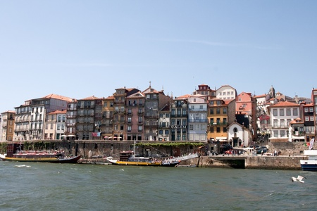 oporto: Ribeira is one of the oldest places in the city of Oporto. Stock Photo