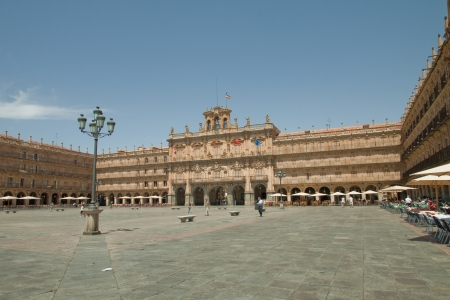 The old city of Salamanca was declared a UNESCO World Heritage site in 1988  La Plaza Mayor is of Baroque style and was designed by architects Alberto and Nicolas Churriguera  It is the most important public space and the heart of the city
