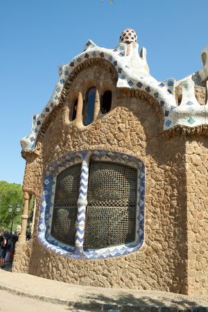 commissioned: The Park Guell is a public park in the city of Barcelona  The development project was commissioned by Eusebi Guell, patron of the architect Antoni Gaudi