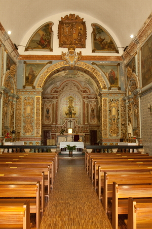 dated: Castro Verde is a village that is located in the Alentejo plains in the south of Portugal. One of its monuments is Chagas do Salvador church whose reconstruction is dated from 1621. Editorial