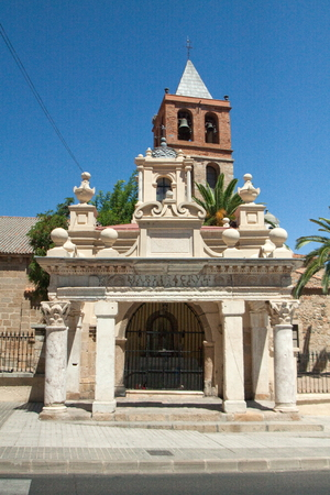 unesco culture heritage: M�rida is the capital of the autonomous community of Extremadura, western central Spain. The Archaeological Ensemble of M�rida has been a UNESCO World Heritage site since 1993.Basilica de Santa Eulalia is an ancient Roman church the remains of wich lie un Stock Photo