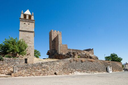 The Castle of Mogadouro is a medieval castle located in the civil parish of Mogadouro, Valverde, Vale de Porco e Vilar de Rei, in the municipality of Mogadouro, Portuguese district of Bragança. The castle was constructed between 1160 and 1165, in an area then occupied by a small residential nucleus. Alongside is the Torre do Relógio (Clock tower of Mogadouro).