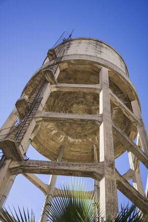 Height cement water tank outside