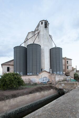 Old feed factory abandoned in Valencia