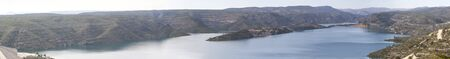 panoramic of a dam with water Foto de archivo