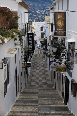 streets of the old town of Altea