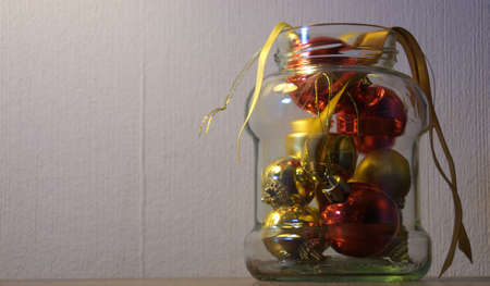 GLOD: Decorations In A Jar Stock Photo