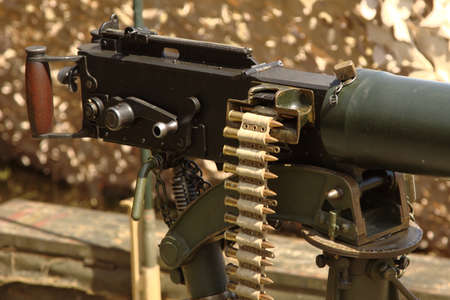 vickers: Vickers Machine Gun Stock Photo