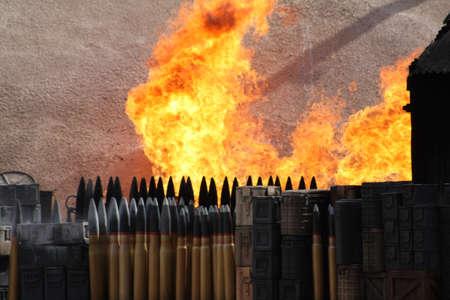 explotion: Fire Stock Photo