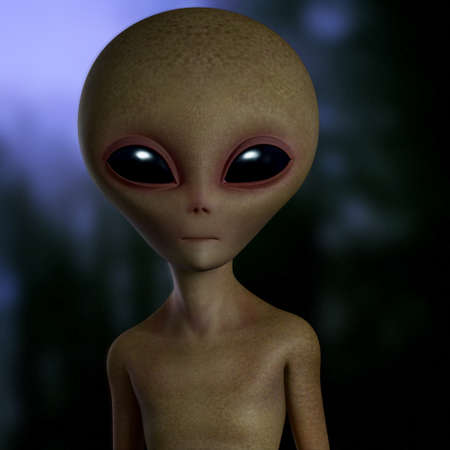 3d cartoon alien