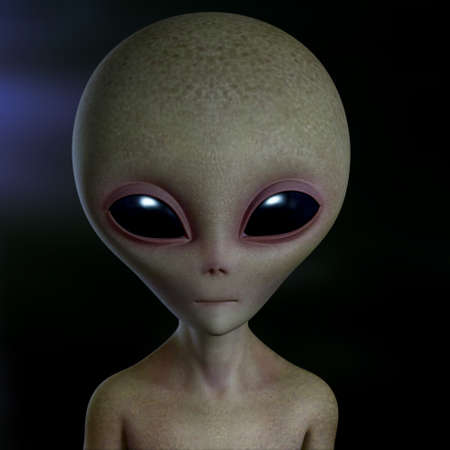 3d cartoon alien photo