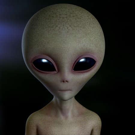 cartoon alien: 3d cartoon alien