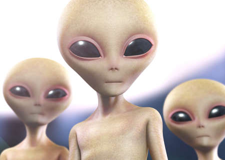 3d cartoon alien Stock Photo - 15612551