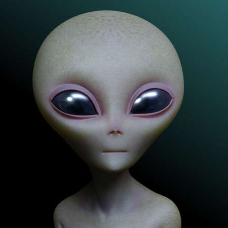 3d cartoon alien Stock Photo - 15612543