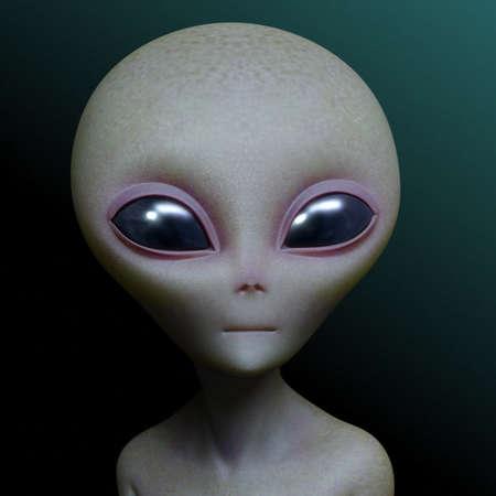 extraterrestrial: 3d cartoon alien