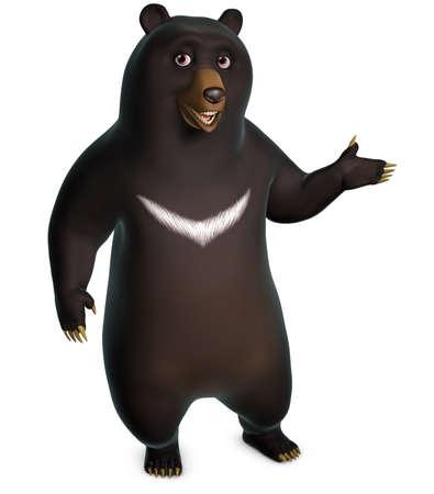 oso negro: 3d oso negro