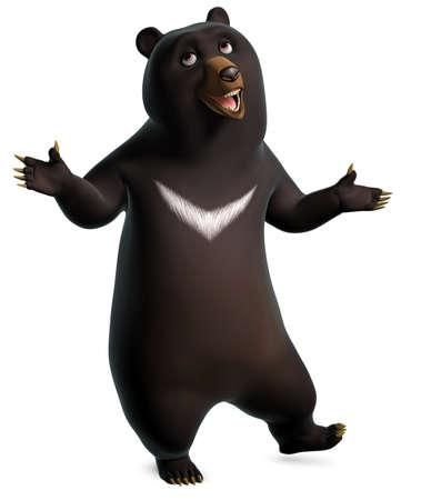 black bear: danza orso nero Archivio Fotografico